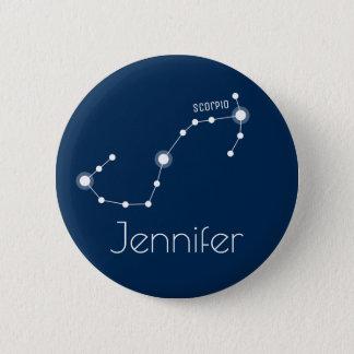 Personalized Scorpio Zodiac Constellation 6 Cm Round Badge