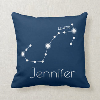 Personalized Scorpio Zodiac Constellation Cushion