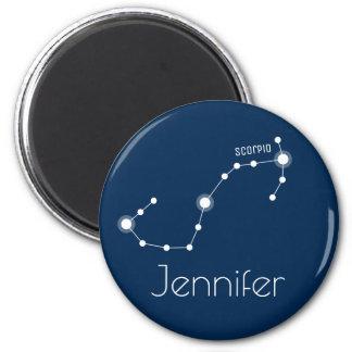 Personalized Scorpio Zodiac Constellation Magnet