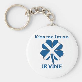Personalized Scottish Kiss Me I'm Irvine Basic Round Button Key Ring