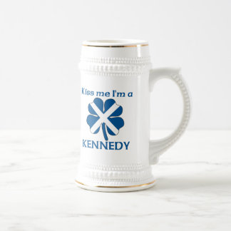 Personalized Scottish Kiss Me I'm Kennedy Beer Steins
