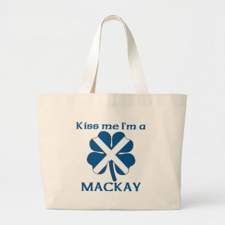 Personalized Scottish Kiss Me I'm Mackay Jumbo Tote Bag