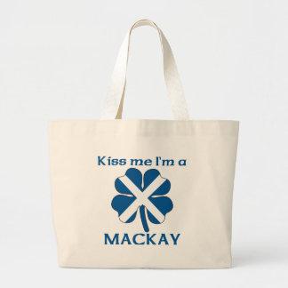 Personalized Scottish Kiss Me I'm Mackay Large Tote Bag