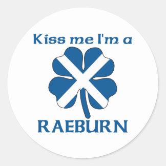 Personalized Scottish Kiss Me I'm Raeburn Classic Round Sticker
