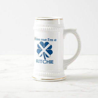 Personalized Scottish Kiss Me I'm Ritchie Beer Stein