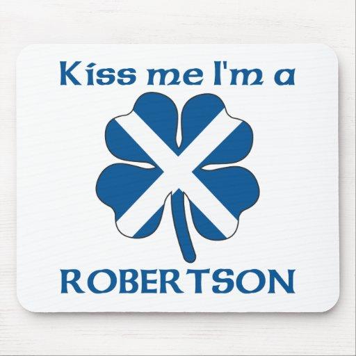 Personalized Scottish Kiss Me I'm Robertson Mouse Pad
