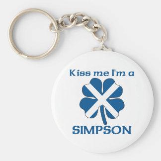 Personalized Scottish Kiss Me I'm Simpson Keychains