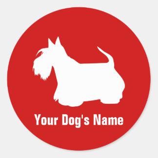 Personalized Scottish Terrier スコティッシュ・テリア Stickers