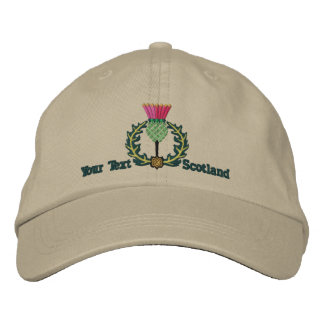 Personalized Scottish Thistle Scotland Spirit Embroidered Cap