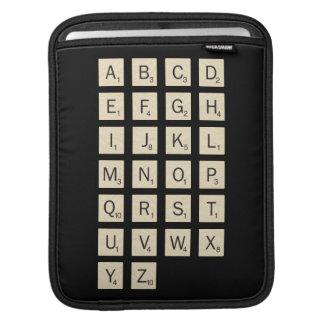 Personalized Scrabble iPad Sleeve
