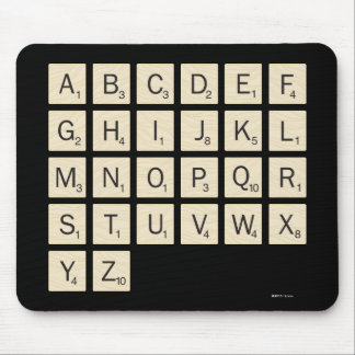 Personalized Scrabble Mouse Mat
