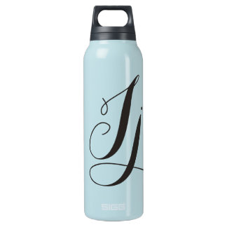 Personalized Script Initial, Name, modern Insulated Water Bottle