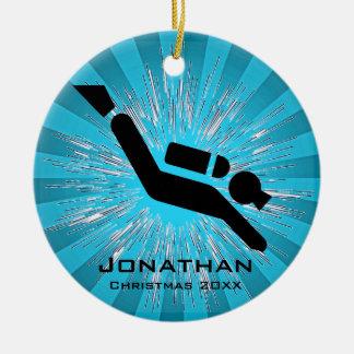 Personalized Scuba Diving Ornament