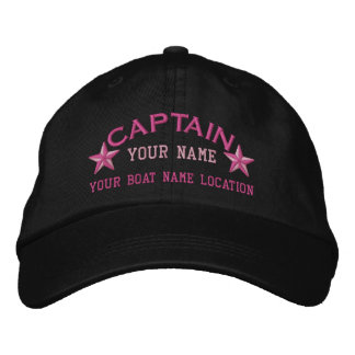 Personalized Sea Captain Stars Ball Cap Embroidery Embroidered Cap