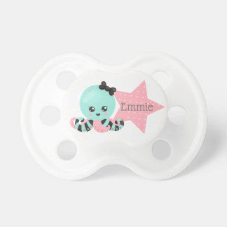 Personalized  Seafoam Green Octopus and Pink Star Dummy