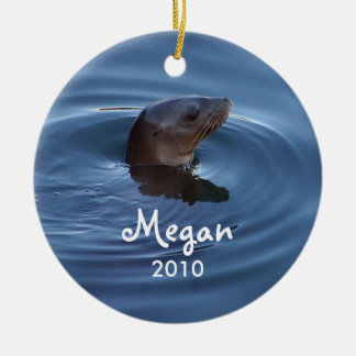 Personalized Seal Ornament
