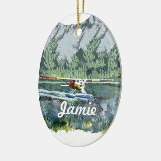 Personalized Seaplane Christmas Ornament
