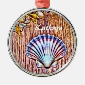 Personalized Seashells Christmas Tree Ornament