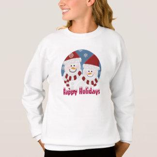 Personalized: Seasons Greetings Snowman Sweatshirt
