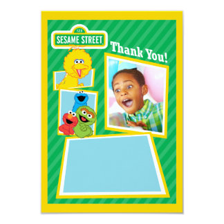 Personalized Sesame Street Pals Birthday 9 Cm X 13 Cm Invitation Card