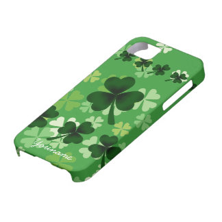 Personalized Shamrock and Four Leaf Clover Case For The iPhone 5