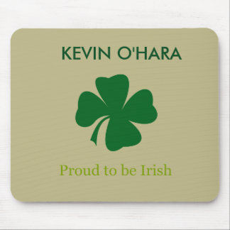 Personalized Shamrock Proud to be Irish Mouse Pad
