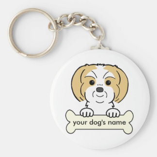 Personalized Shih Tzu Basic Round Button Key Ring