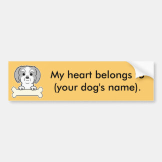Personalized Shih Tzu Bumper Sticker