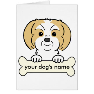 Personalized Shih Tzu Card