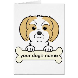 Personalized Shih Tzu Greeting Card