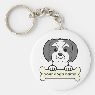 Personalized Shih Tzu Key Ring