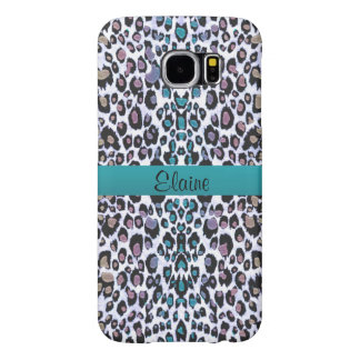 Personalized Shimmering Rainbow Leopard Print Case