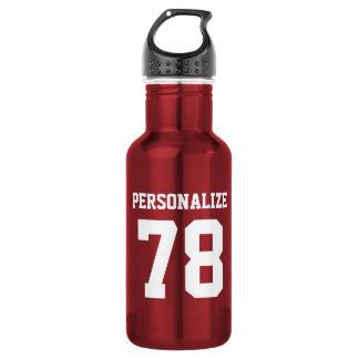 Personalized shiny metallic sports water bottle
