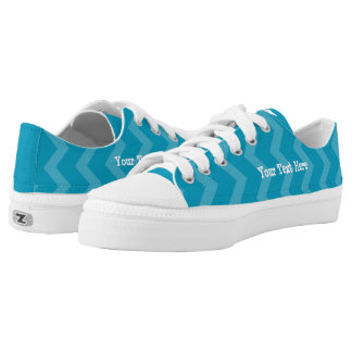Personalized Shoe - Blue Stripes Printed Shoes