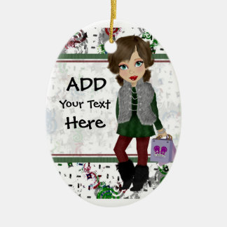 Personalized Shopping Diva Christmas Ornament