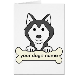 Personalized Siberian Husky Card