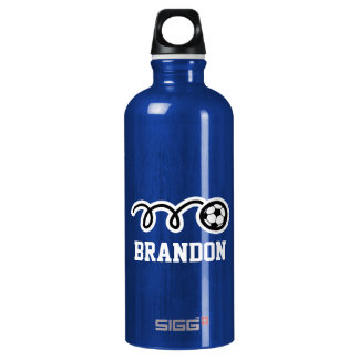 Personalized SIGG water bottle for soccer player