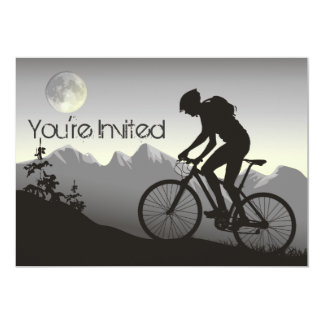 Personalized Silhouete Mountain Bike Birthday Card