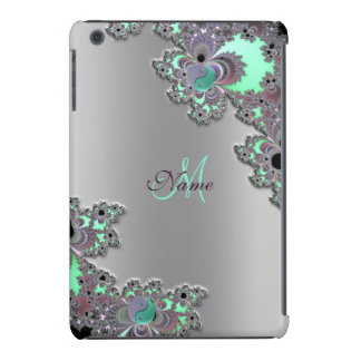 Personalized Silver Metallic Fractal iPad Case