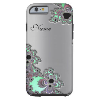 Personalized Silver Metallic Fractal iPhone 6 case