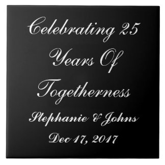 Personalized Silver Wedding Anniversary Display2 Tile
