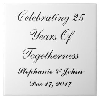 Personalized Silver Wedding Anniversary Display Tile