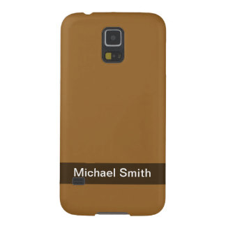 Personalized simple brown color galaxy s5 covers