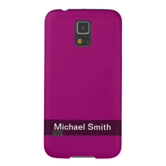 personalized simple dark berry pink color galaxy s5 case