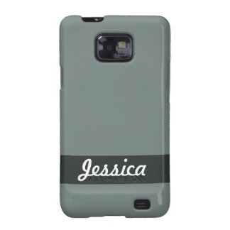 Personalized Simple Grey Color Samsung Galaxy SII Covers