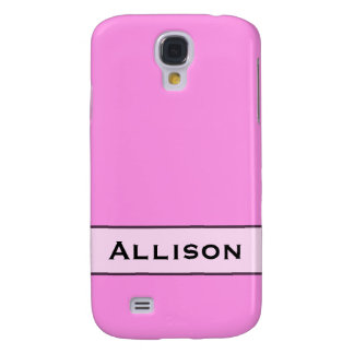 personalized simple pink color samsung galaxy s4 cases