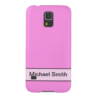personalized simple pink color galaxy s5 cases