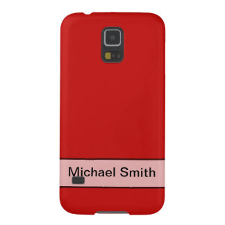 Personalized Simple red color Cases For Galaxy S5