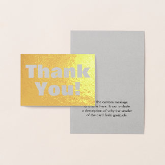 "Personalized, Simple ""Thank You!"" Card"