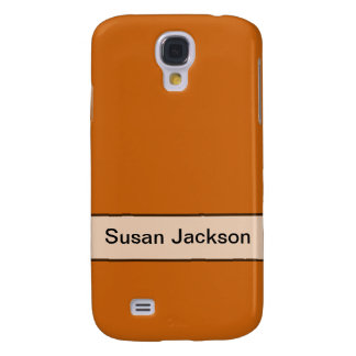 Personalized simple yellow orange color samsung galaxy s4 case